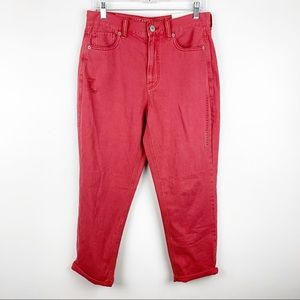 American Eagle High Rise Short Mom Jeans 8